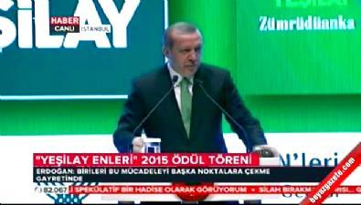 Cumhurbaşkanı Erdoğan'ın Yeşilay enleri ödül töreni konuşması