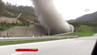 TEM Otoyolu Boludağı tünelinde TIR yangını