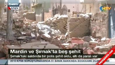 Mardin ve Şırnak'ta 5 şehit