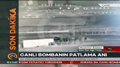 Ankara'da canlı bombaların patlama anı