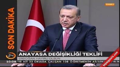 Cumhurbaşkanı Erdoğan Anayasa değişikliği teklifi hakkında konuştu