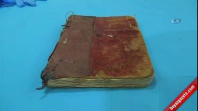 4 yüz yıllık vaaz kitabı ele geçirildi