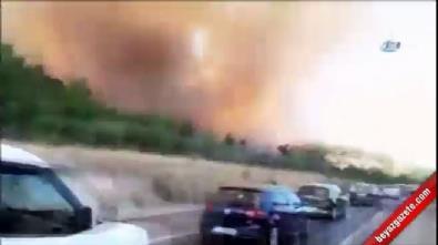 İzmir'de yerleşim yerlerine yakın alanda yangın