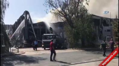 Tekirdağ Çerkezköy'de boya fabrikasında büyük yangın!