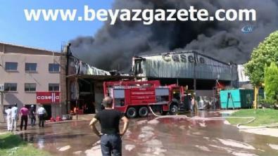 Tekstil fabrikası alev alev yanıyor!