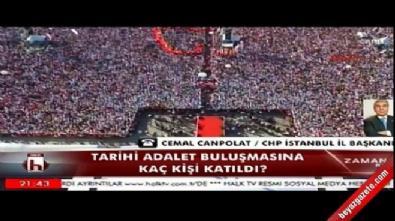 CHP'li Canpolat katılım sayısını abartarak açıkladı