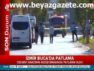 İzmir Buca'da cezaevi servis aracı geçişi sırasında patlama