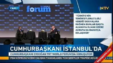 Cumhurbaşkanı Erdoğan: Merkel farklı bir duruma yatıyor