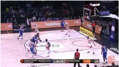 Anadolu Efes - Kızılyıldız: 104-95 Basketbol maç özeti (12 Ocak 2018) - Highlights