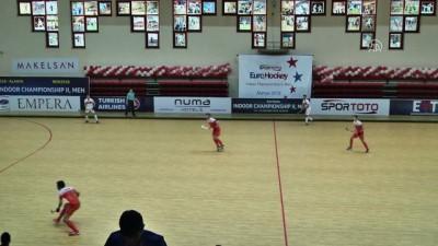 Avrupa Erkekler Salon Hokeyi Şampiyonası - Türkiye, Hollanda'ya 6-0 yenildi - ANTALYA