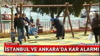 Ankara ve İstanbul için kar alarmı