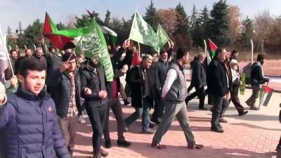 ABD'nin Kudüs kararına tepki için yürüyor - KONYA