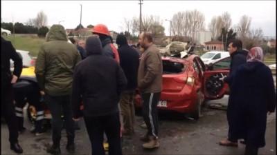 Silivri'de trafik kazası: 4 yaralı - İSTANBUL