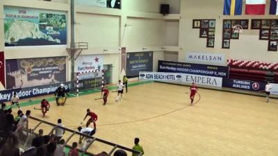 Avrupa Erkekler Salon Hokeyi Şampiyonası - Türkiye, İngiltere ile 3-3 berabere kaldı -ANTALYA