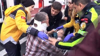 TEM Otoyolu'nda takla atan otomobilin yaralı sürücüsü eşi için yardım istedi