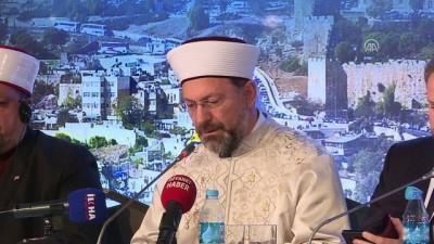 'Vahyin Kutsadığı Şehir: Kudüs' - Diyanet İşleri Başkanı Erbaş (1) - İSTANBUL