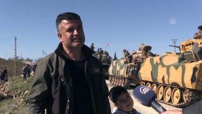 Vatandaşlar harekata katılan askerlere sevinç gösterisinde bulundu - KİLİS