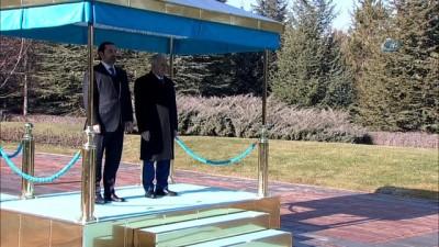 Başbakan Binali Yıldırım, Lübnan Başbakanı Saad Hariri'yi resmi törenle karşıladı