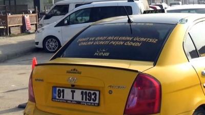 Düzceli taksiciden duygulandıran hareket