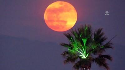 'Süper Kanlı Mavi Ay' tutulması - ÇANAKKALE