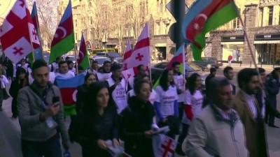 Hocalı Katliamı 26. yılında Gürcistan'da protesto edildi - TİFLİS