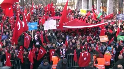 Zeytin Dalı Harekatı'na destek mitingi (1) - BRÜKSEL
