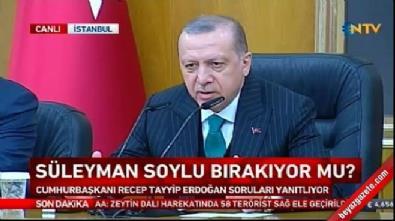 Cumhurbaşkanı Erdoğan'dan 'Soylu istifa edecek mi?' sorusuna yanıt