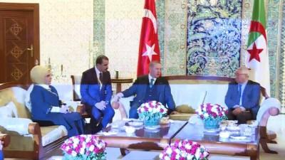 Cumhurbaşkanı Erdoğan - Cezayir Millet Konseyi Başkanı Bensalah görüşmesi - CEZAYİR