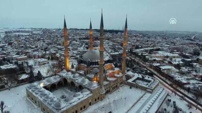 Kar yağışı havadan görüntülendi - EDİRNE