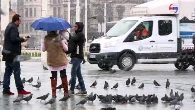 Beklenen kar yağışı başladı (2) - İSTANBUL