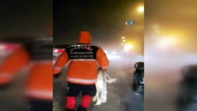 Erciyes'te mahsur kalan 45 kişi jandarma tarafından kurtarıldı