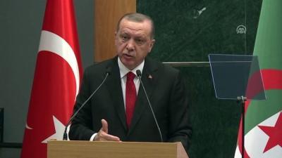 Cumhurbaşkanı Erdoğan: 'Cezayir'le enerji alanında iş birliğimizi süratle ilerletmemiz gerektiğine inanıyorum' - CEZAYİR