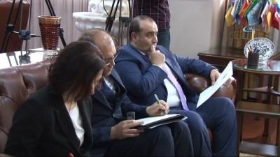 Bakan Eroğlu, Ürdün Ankara Büyükelçisi İsmail İssa Rifaie'ni kabul etti