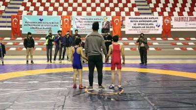 Türk ve İranlı güreşçilerden Mehmetçik'e destek - AĞRI