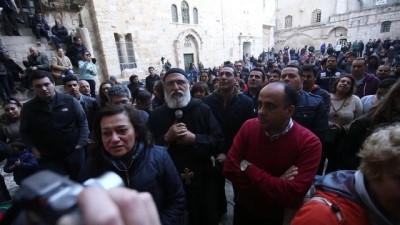 Filistinli Hristiyanlar İsrail'in 'kilise kararını' protesto etti - KUDÜS