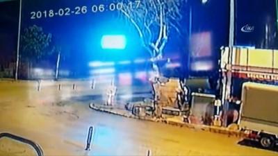 Belediyenin musluklarını çalan zanlı güvenlik kamerasında