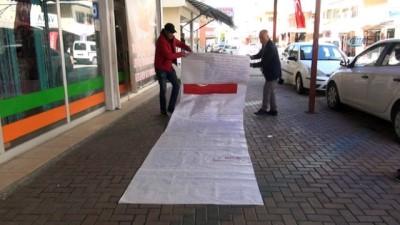 Afrin'deki Mehmetçiğe 15 metrelik moral mektubu