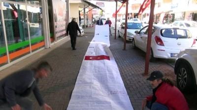Mehmetçik'e 15 metre uzunluğundaki mektupla destek - ANTALYA