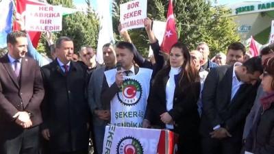 CHP Şeker Fabrikası işçilerine destek verdi