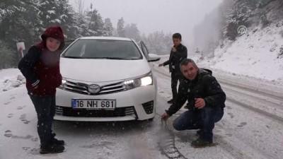 Kar yağışı ve sis sürücülere zor anlar yaşattı - KÜTAHYA