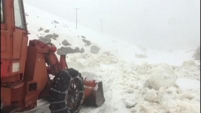 Nemrut Dağı'nda karla mücadele - ADIYAMAN