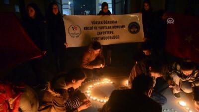 Üniversite öğrencilerinden Mehmetçik'e ışıklı destek - KÜTAHYA