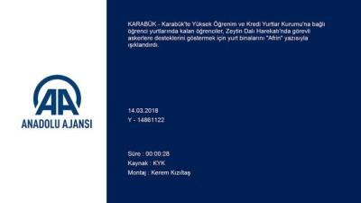 Üniversite öğrencilerinden Mehmetçiğe ışıklı destek - KARABÜK