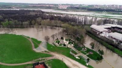 Tunca Nehri'nin debisi yükseliyor - Havadan görüntüler - EDİRNE