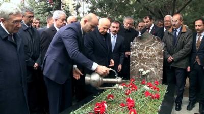MHP Genel Başkanı Bahçeli, partisinin MYK ve MDK üyeleri ile birlikte Türkeş'in mezarını ziyaret etti - ANKARA