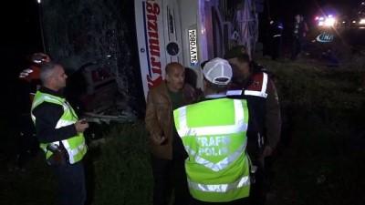 Ankara - Aksaray otoyolunun 45. kilometresinde otobüs kaza yaptı, ilk belirlemelere göre 4 ölü ve çok sayıda yaralı olduüu bilgisi alındı