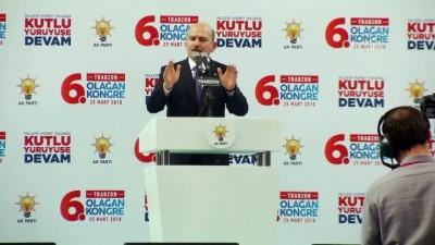 İçişleri Bakanı Soylu, AK Parti 6. Olağan Kongresi'nde konuştu - TRABZON