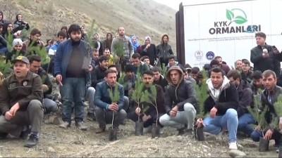 Erzincan'da Afrin şehidi 49 Mehmetçik için 49 fidan dikildi