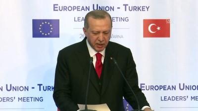 Cumhurbaşkanı Erdoğan: 'Terörle mücadelede, haksız eleştiriler değil, güçlü destek bekliyoruz' - VARNA