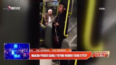 Garip görünümlü kız, metrobüste paniğe neden oldu!